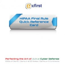 HIPAA Final Rule Quick Reference Card