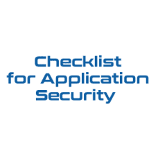 Checklist for Application Security