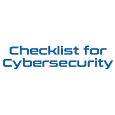 Checklist for Cybersecurity
