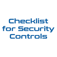Checklist for Cybersecurity Controls