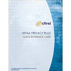 HIPAA Privacy Rule Quick Reference Card