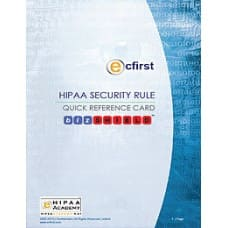 HIPAA Security Rule Quick Reference Card